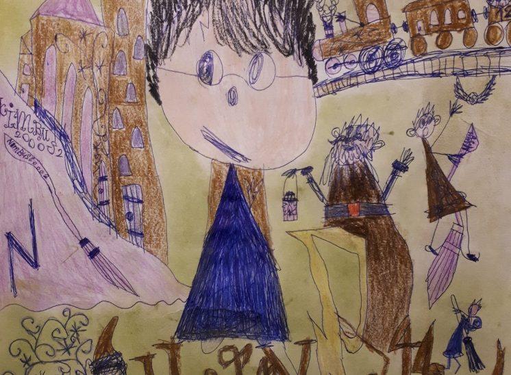 Erstes Bild eines Schülers